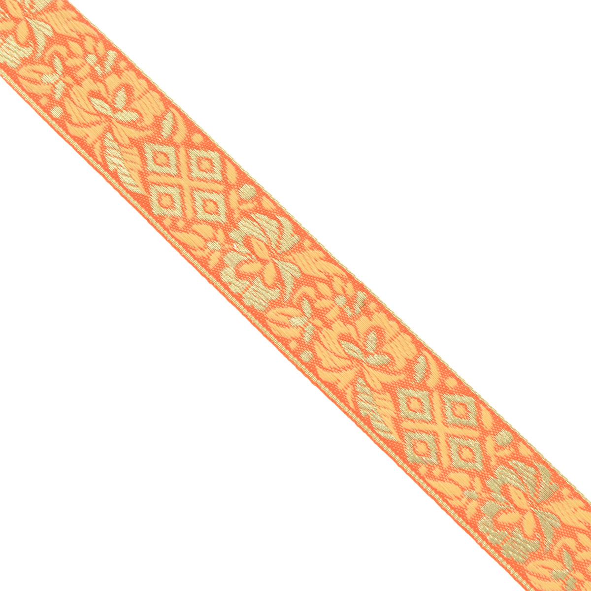 Тесьма декоративная Астра, цвет: оранжевый (2), ширина 2,5 см, длина 16,4 м. 77033157703315_2Декоративная тесьма Астра выполнена из текстиля и оформлена оригинальным орнаментом. Такая тесьма идеально подойдет для оформления различных творческих работ таких, как скрапбукинг, аппликация, декор коробок и открыток и многое другое. Тесьма наивысшего качества и практична в использовании. Она станет незаменимым элементом в создании рукотворного шедевра. Ширина: 2,5 см. Длина: 16,4 м.