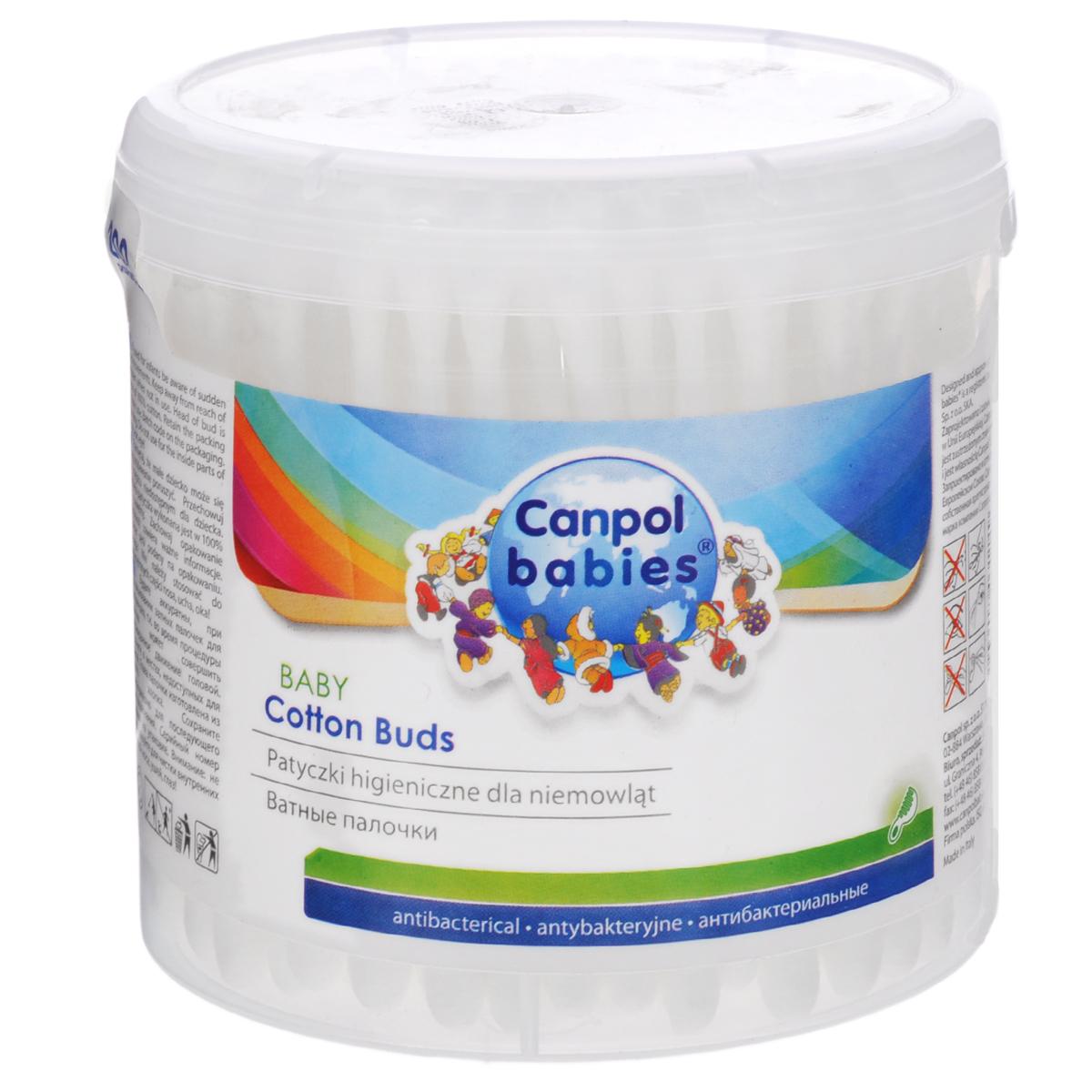 Canpol Babies Ватные палочки, детские, антибактериальные, 200 шт