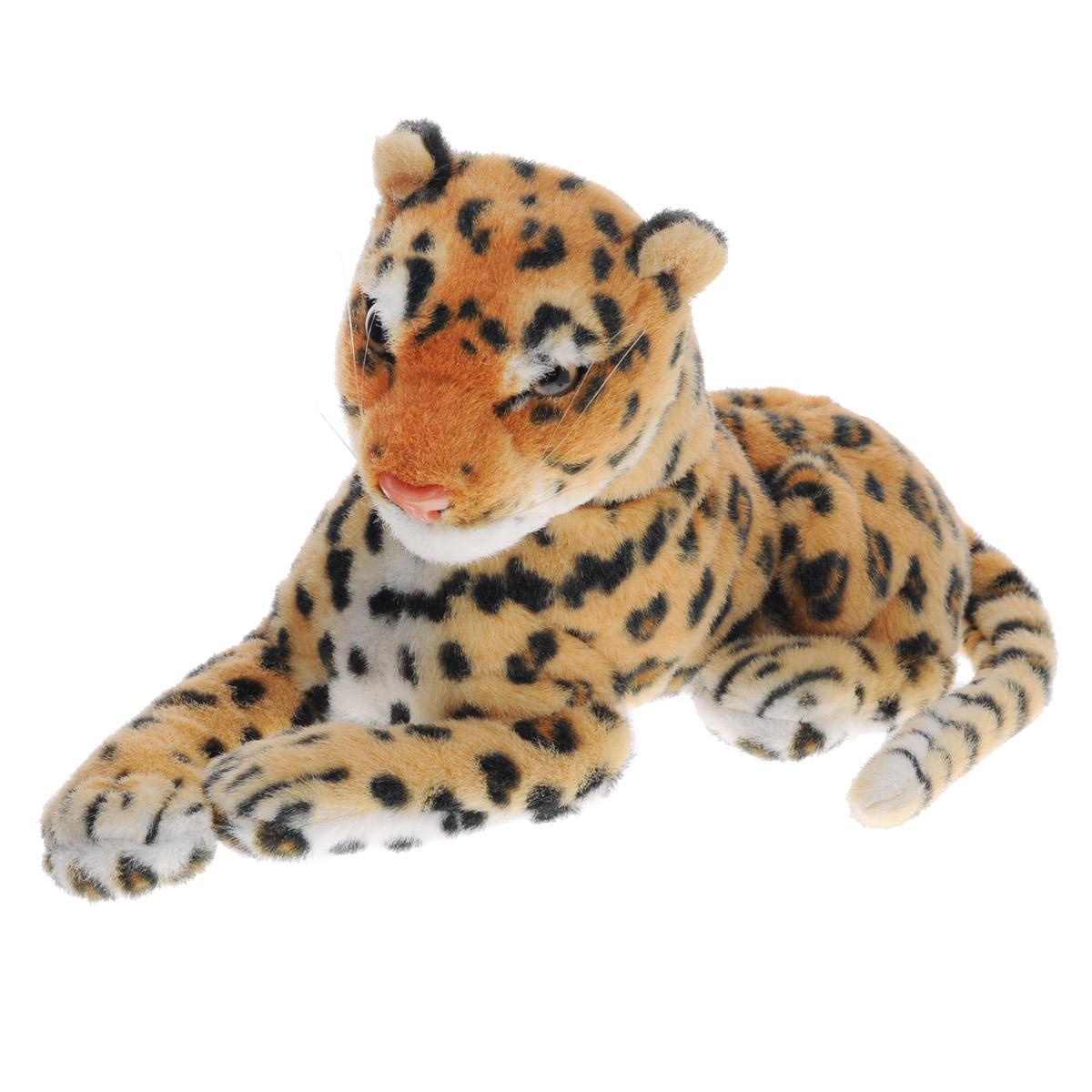 Magic Bear Toys Мягкая игрушка Леопард, 30 см. BW32BRBW32BRОчаровательная игрушка Magic Bear Toys Леопард выполнена в виде красивого леопарда. Игрушка изготовлена из нетоксичных экологически чистых материалов. Глазки, носик и усики выполнены из пластика. Зверек обладает мягкой пятнистой шерсткой, выполненной из искусственного меха. Для набивки используется силиконизированное волокно. Удивительно мягкая игрушка принесет радость и подарит своему обладателю мгновения нежных объятий и приятных воспоминаний. Великолепное качество исполнения делают эту игрушку чудесным подарком к любому празднику. Трогательная и симпатичная, она непременно вызовет улыбку у детей и взрослых.