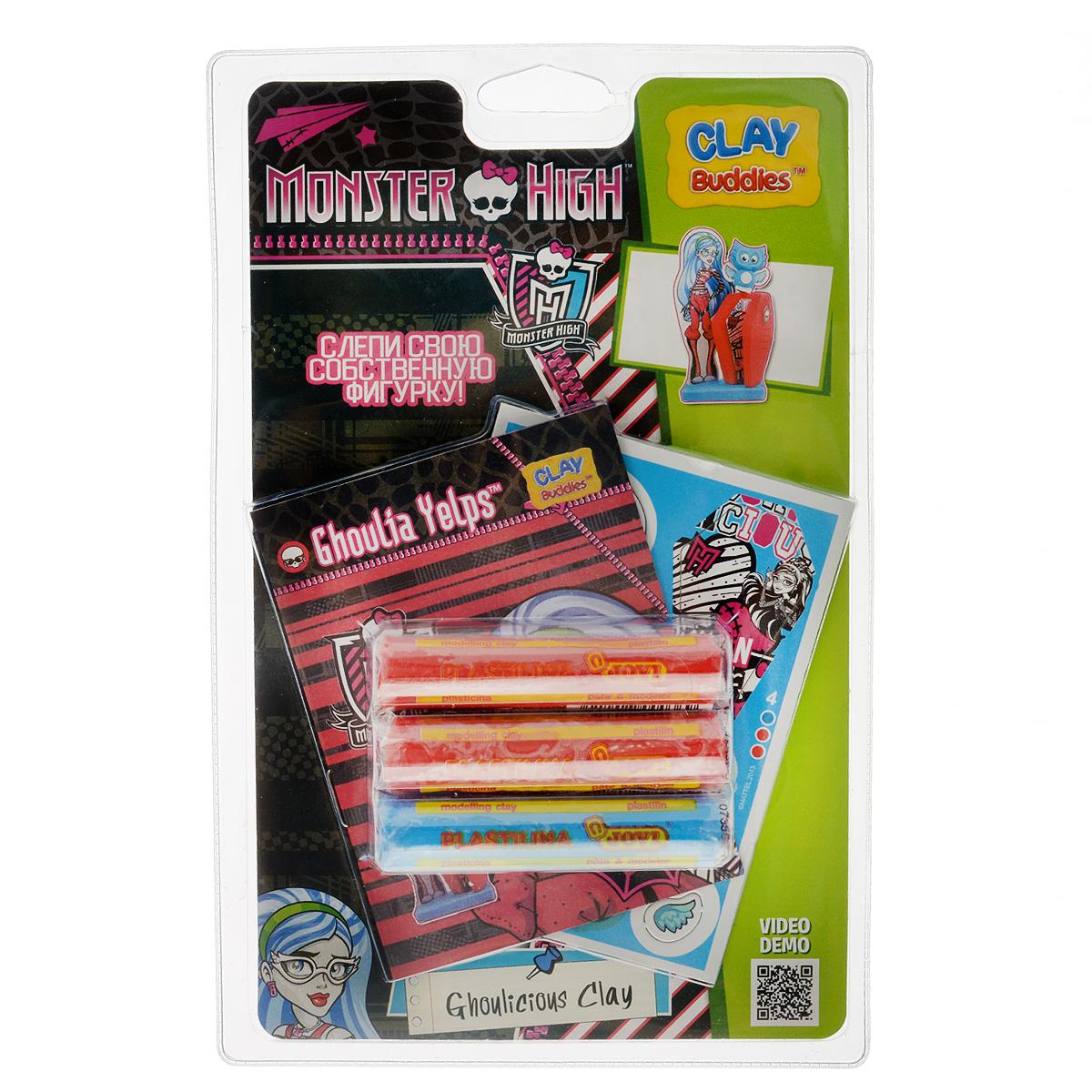 Giromax Набор для лепки Monster High. Ghoulia Yelps307625_Ghoulicious clayНабор для лепки Giromax Monster High. Ghoulia Yelps позволит вашему ребенку создать поделку в виде Гулии Йелпс - персонажа популярного мультсериала Школа Монстров (Monster High). Набор включает три бруска пластилина (один голубого цвета, два других - красного), картонный лист с красочными элементами для оформления поделки, липучку для наклеивания элементов, а также брошюру с заданиями и инструкцией на русском языке. Работа с пластилином для лепки подарит вашему ребенку положительные эмоции, а также поможет развить мелкую моторику рук, внимательность и усидчивость.
