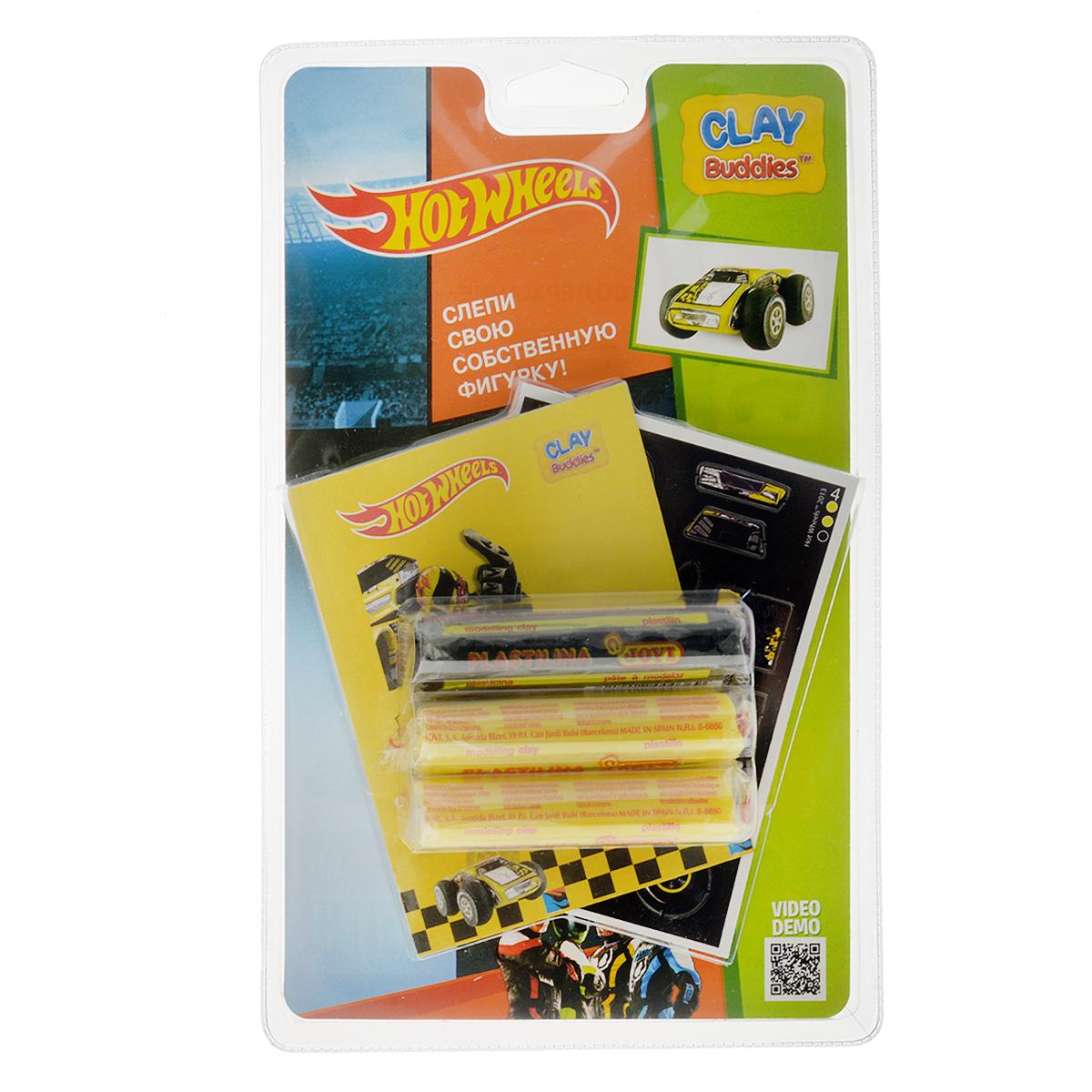 Giromax Набор для лепки Hot Wheels. Машина, цвет: желтый307595_желтаяНабор для лепки Giromax Hot Wheels. Машина позволит вашему ребенку создать поделку в виде желтой гоночной машинки. Набор включает три бруска пластилина (один черного цвета, два других - желтого), картонный лист с красочными элементами для оформления поделки, липучку для наклеивания элементов, а также брошюру с заданиями и инструкцией на русском языке. Работа с пластилином для лепки подарит вашему ребенку положительные эмоции, а также поможет развить мелкую моторику рук, внимательность и усидчивость.