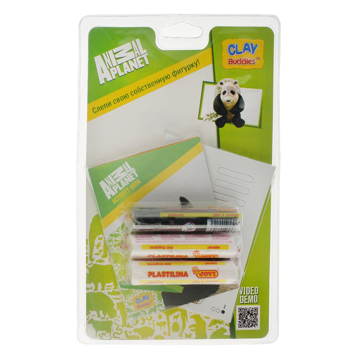 Giromax Набор для лепки Animal Planet. Панда306758_пандаНабор для лепки Giromax Animal Planet. Панда позволит вашему ребенку создать поделку в виде панды. Набор включает три бруска пластилина (один черного цвета, два других - белого), картонный лист с красочными элементами для оформления поделки, липучку для наклеивания элементов, а также брошюру с заданиями и инструкцией на русском языке. Работа с пластилином для лепки подарит вашему ребенку положительные эмоции, а также поможет развить мелкую моторику рук, внимательность и усидчивость.