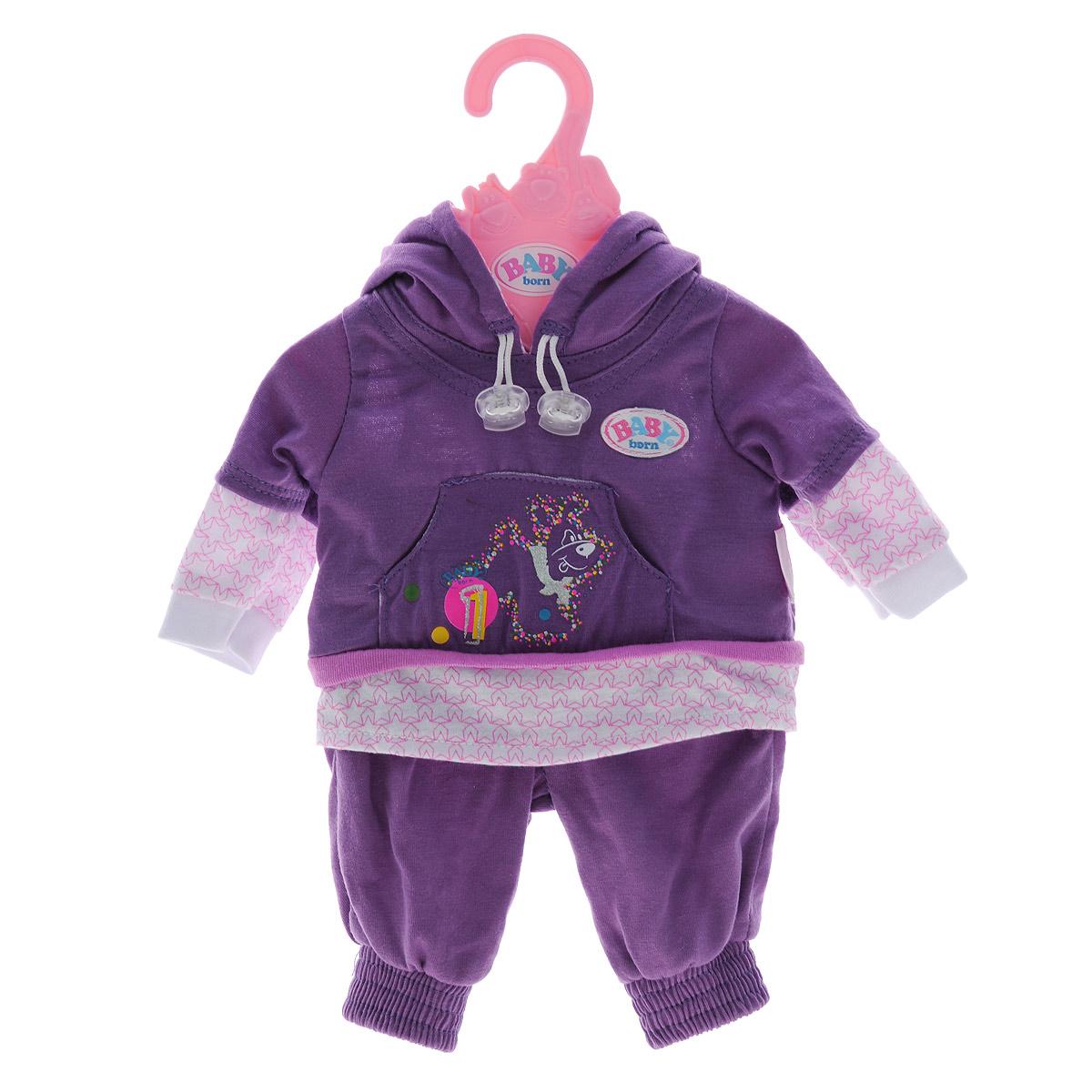 Baby Born Одежда для кукол Для спорта цвет сиреневый