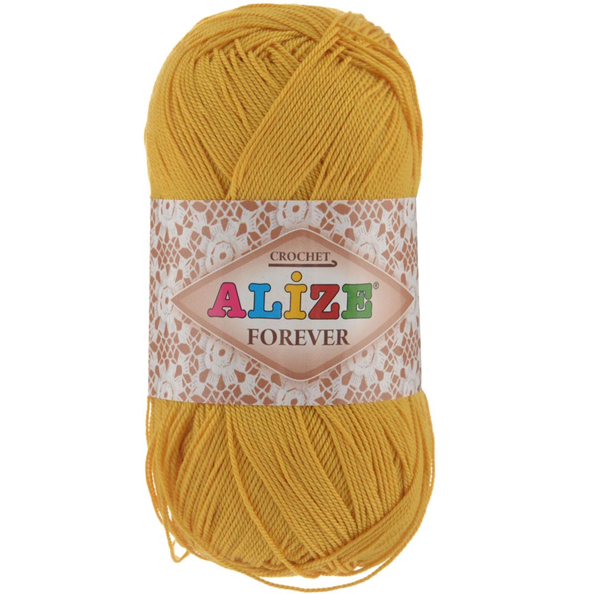 Пряжа для вязания Alize Forever, цвет: темно-желтый (488), 300 м, 50 г, 5 шт367022_488Alize Forever - это тщательно обработанная акриловая пряжа, которая приобретает вид мерсеризованной нити. Классическая пряжа, прочная, мягкая и шелковистая. Большое разнообразие цветов и оттенков от спокойных до ярких позволять подобрать пряжу для вязания на любой вкус. Предназначена для вязания летних и весенних вещей и прекрасно подойдет как для спиц, так и для крючка. Изделия получаются очень красивыми и нарядными внешне и при этом комфортными в носке. Рекомендованные спицы № 2-3,5, крючок № 0,75-1,5. Состав: 100% акрил.