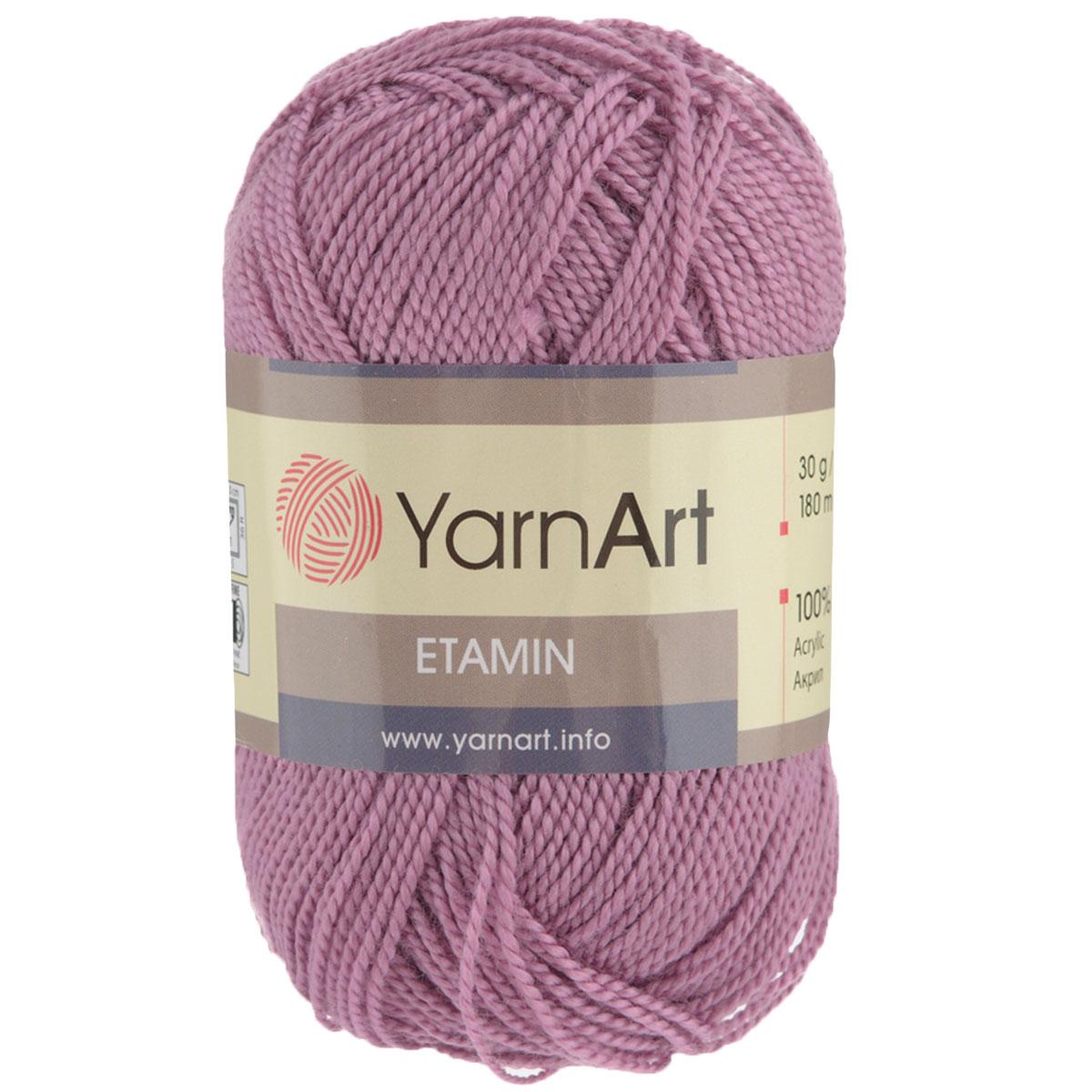 Пряжа для вязания YarnArt Etamin, цвет: фуксия (441), 180 м, 30 г, 10 шт372099_441Пряжа Etamin YarnArt - это классическая пряжа из тонкого акрила для вязания изящных вещиц. Пряжа довольно прочная, не вытягивается, не скатывается, цветовая палитра представлена широчайшей радугой оттенков. Очень хорошо из Etamin YarnArt вязать декоративные элементы, цветы, игрушки, куколки и одежду для них, чехлы для мобильных телефонов и так далее. Вязать из этой ниточки очень легко: пряжа не скользит, не спутывается и не расслаивается. Рекомендованные спицы и крючок № 2,5. Состав: 100% акрил.