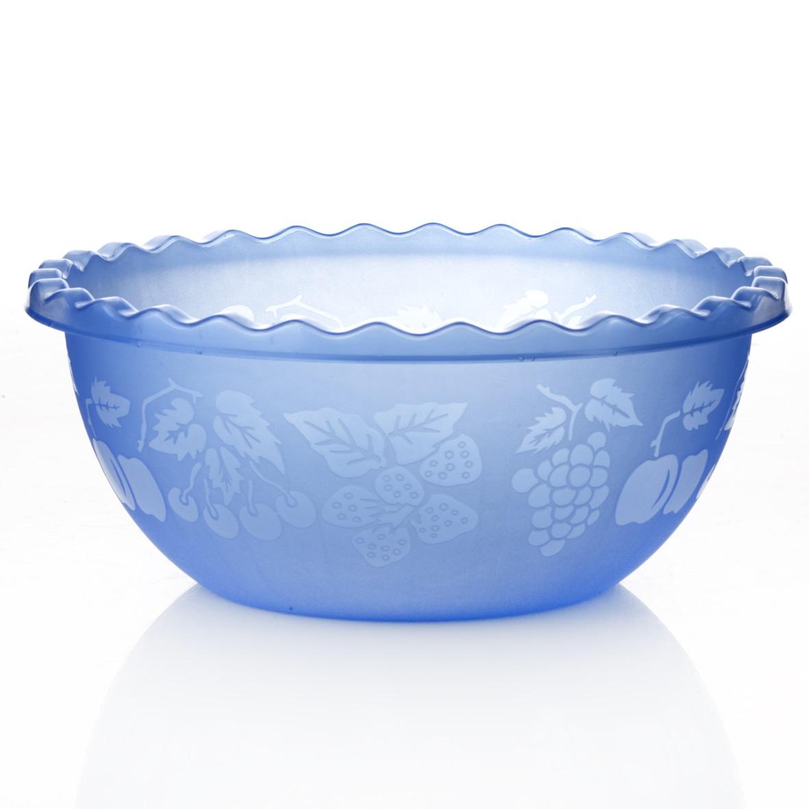 Миска Dunya Plastik, цвет: синий, 3,5 л10501Миска Dunya Plastik изготовлена из прозрачного пластика, имеет круглую форму. Внешние стенки украшены изображением ягод и фруктов, кромка волнистые. Такая миска прекрасно подойдет для хранения овощей и фруктов, сервировки салатов и других продуктов. Объем: 3,5 л. Диаметр: 25 см. Высота стенки: 10,5 см.