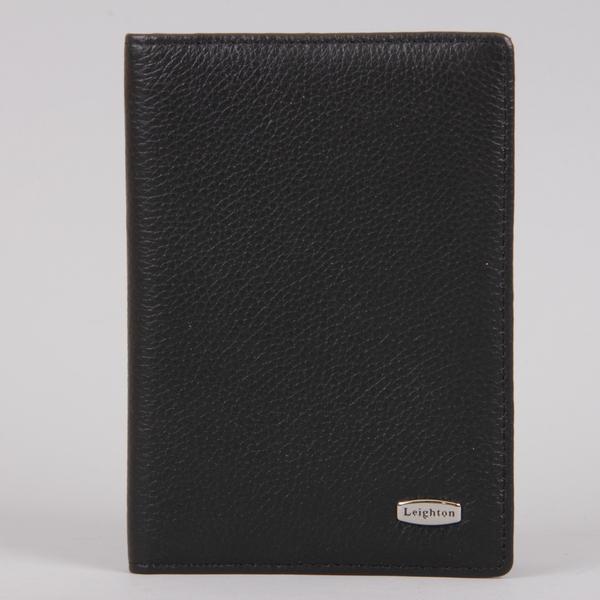 Обложка для паспорта мужская Leighton, цвет: черный. 22106-13408 ( 22106-13408 черн )