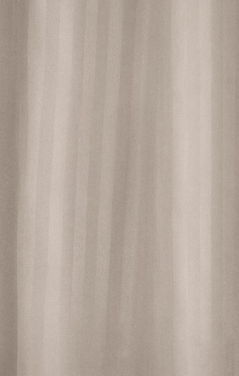 Штора для ванной комнаты White Fox Полоска, цвет: капучино, 180 х 200 смWBCH10-302Штора для ванной комнаты White Fox Полоска выполнена из полиэстера с водоотталкивающей и антибактериальной пропиткой. В нижний край вшит утяжелитель змейка, который обладает большой гибкостью и не теряет своих свойств после стирки. Штора оформлена узором в полоску. В комплекте прилагаются 12 фигурных пластиковых колец в форме С. Штора для ванной комнаты White Fox Полоска удобна и проста в уходе. Можно стирать при температуре не выше +30°C и гладить при температуре до +110°C. Штора для ванной комнаты является прекрасным украшением для ванной комнаты и надежной защитой от разбрызгивания воды.