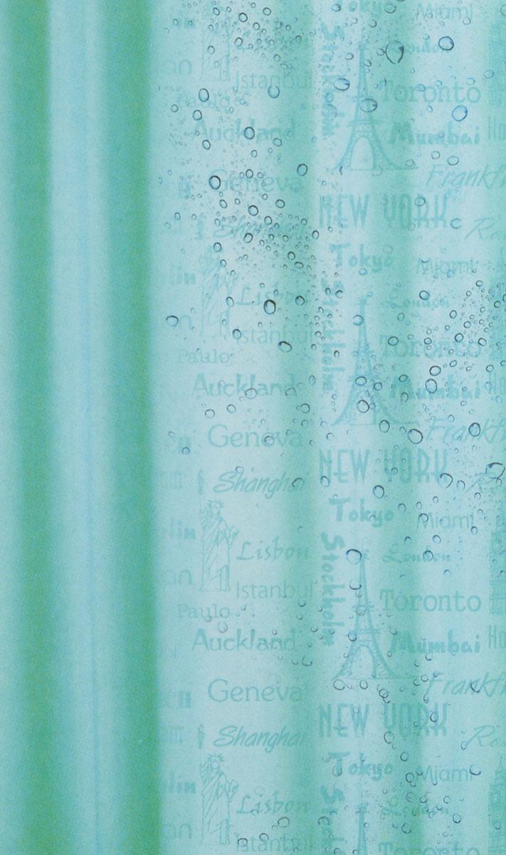 Штора для ванной комнаты White Fox Рисунок-невидимка, цвет: бирюзовый, 180 см х 200 смWBCH10-333Штора для ванной комнаты White Fox Рисунок-невидимка выполнена из полиэстера с водоотталкивающей и антибактериальной пропиткой. В нижний край вшит утяжелитель змейка, который обладает большой гибкостью и не теряет своих свойств после стирки. Рисунок проявляется при контакте с водой. В комплекте прилагаются 12 фигурных пластиковых колец в форме С. Штора для ванной комнаты White Fox Рисунок-невидимка удобна и проста в уходе. Можно стирать при температуре не выше +30°C и гладить при температуре до +110°C. Штора для ванной комнаты является прекрасным украшением для ванной комнаты и надежной защитой от разбрызгивания воды.
