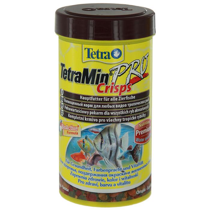 Корм сухой TetraMin Pro Crisps для всех видов тропических рыб, в виде чипсов, 250 мл139657Корм TetraMin Pro Crisps - это биологически сбалансированный корм для здоровой рыбы и чистой воды. Корм в виде чипсов представляет собой идеальную смесь высокопитательных ингредиентов с витаминами, минералами и микроэлементами для ежедневного полноценного питания. Особенности TetraMin Pro Crisps: изготовлено с использованием уникальной низкотемпературной технологии производства для более высокой питательной ценности, запатентованная BioActive формула поддерживает работоспособность иммунной системы, обеспечивая высокую продолжительность жизни, оптимизированное соотношение протеинов и жиров для улучшенного усвоения корма и меньшего загрязнения воды. Рекомендации по кормлению: кормить несколько раз в день маленькими порциями. Характеристики: Состав: рыба и побочные рыбные продукты, зерновые культуры, экстракты растительного белка, дрожжи, моллюски и раки, масла и жиры, водоросли, сахар. Пищевая...