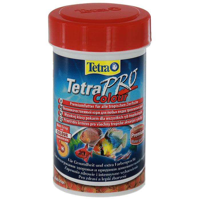 Корм сухой Tetra TetraPro. Colour для всех видов тропических рыб, чипсы, 250 мл (55 г)140677Полноценный высококачественный корм Tetra TetraPro. Colour для всех видов тропических рыб разработан для поддержания здоровья и придания дополнительной энергии. Особенности Tetra TetraPro. Colour: - щадящая низкотемпературная технология изготовления для высокой питательной ценности и стабильности витаминов; - цветовой концентрат для превосходной природной окраски; - инновационная форма чипсов для минимального загрязнения воды отходами; - идеально подходит для любых видов разноцветных рыб; - легкое кормление. Рекомендации по кормлению: кормить несколько раз в день маленькими порциями. Состав: рыба и побочные рыбные продукты, зерновые культуры, экстракты растительного белка, дрожжи, моллюски и раки, масла и жиры, водоросли. Аналитические компоненты: сырой белок - 46%, сырые масла и жиры - 12%, сырая клетчатка - 3%, влага - 9%. Добавки: витамины, провитамины и химические вещества с аналогичным воздействием, витамин А...