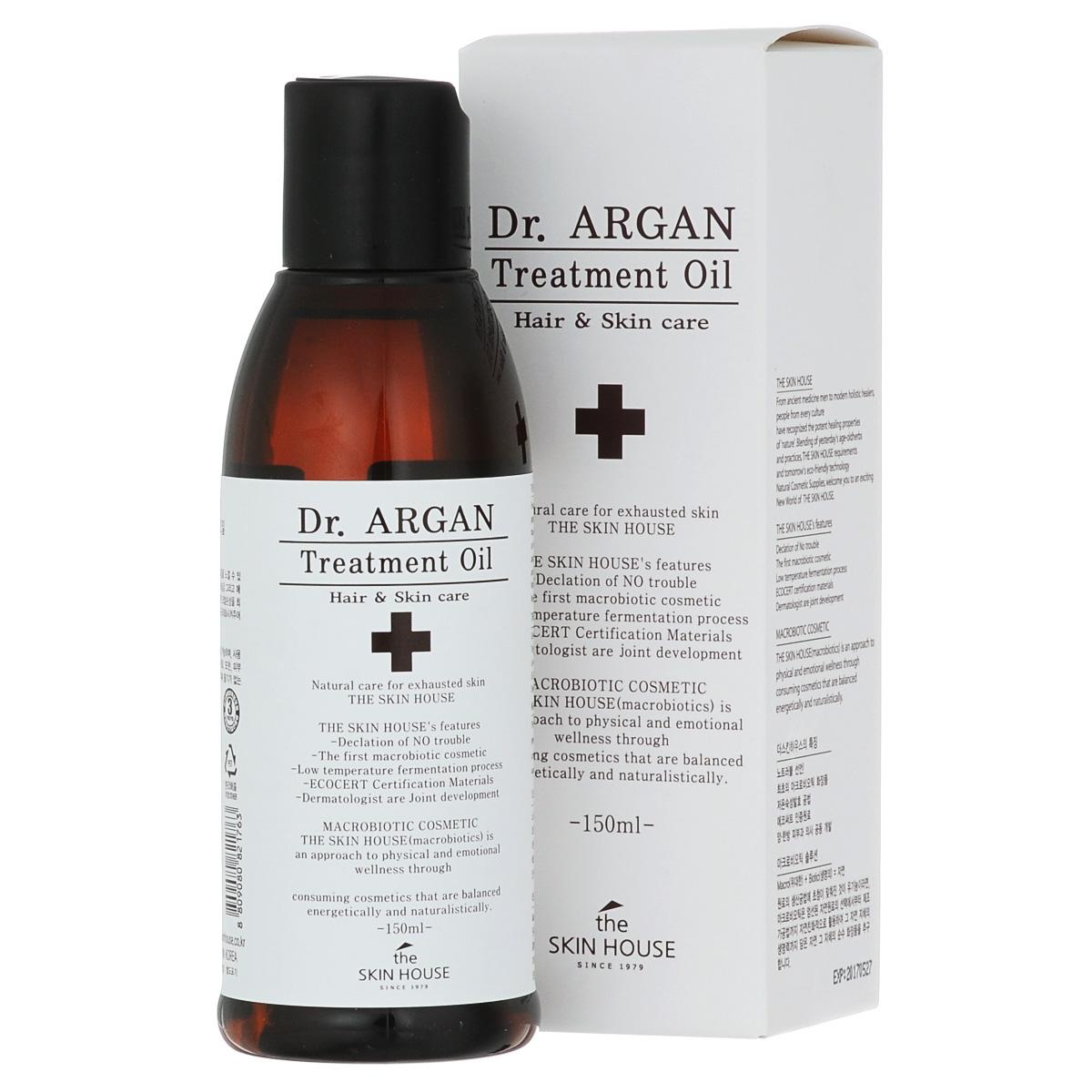 The Skin House Масло арганы для восстановления волос DR. Argan treatment oil, 150 млУТ000001222Увлажняющая эссенция, не склеивающая волосы! Восстанавливающее масло Dr. Argan является многофункциональным средством, которое защищает поврежденные и окрашенные волосы, а так же кожу головы. Способствует обновлению клеток кожи, а так же увлажняет, заметно улучшая внешний вид волос. Защищает волосы от агрессивных факторов внешнего воздействия, а так же делает их шелковистыми и сильными. Смягчает волосы и придает им сияние. Состав: Dimethicone, Cyclomethicone, Dimethicone, Cyclopentasiloxane, Isopropyl Myristate, Dimethicone, Phenyl Trimethicone, Hexyl Laurate, Argania Spinosa Kernel Oil, Fragrance, Ethylhexyl Methoxycinnamate, Rosa Canina Fruit Oil, Simmondsia Chinensis (Jojoba) Seed Oil, Camellia Japonica Seed Oil, Phenoxyethanol