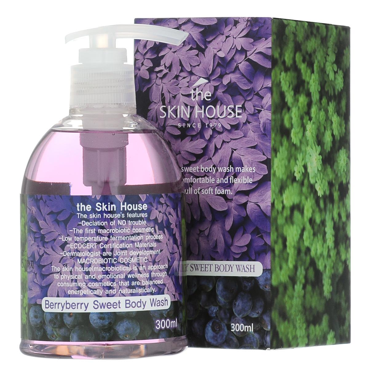 The Skin House Гель для душа с экстрактом ягод, 300 млУТ000001224Гель для душа с ягодами Амазонки и ферментированными экстрактами трав эффективно очищает и ухаживает за кожей. Интенсивно увлажняющий гель для душа содержит натуральные увлажняющие экстракты растительно происхождения из Амазонки. Средство образует густую и пышную пену, которая отшелушивает омертвевшие клетки кожи, удаляет кератин, загрязнения и излишки кожного себума с поверхности кожи. Гель для душа смягчает и питает кожу, ягоды Асаи в составе средства оказывают антиоксидантный эффект, защищая клеикт кожи от преждевременносго старения.
