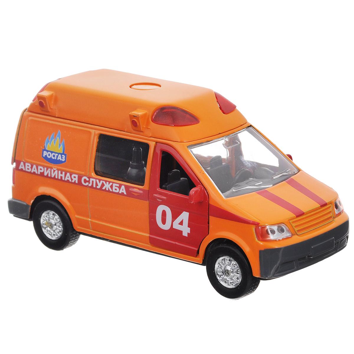ТехноПарк Машинка инерционная Аварийная служба 04CT-1167(SL1106A)Машинка инерционная ТехноПарк Аварийная служба выполненная из пластика и металла, станет любимой игрушкой вашего малыша. Игрушка представляет собой модель автомобиля Аварийной службы. Дверцы кабины и багажного отделения открываются. При нажатии на кнопку на крыше модели, замигают проблесковые маячки и прозвучат звуки сирены. Игрушка оснащена инерционным ходом. Машинку необходимо отвести назад, затем отпустить - и она быстро поедет вперед. Прорезиненные колеса обеспечивают надежное сцепление с любой поверхностью пола. Ваш ребенок будет часами играть с этой машинкой, придумывая различные истории. Порадуйте его таким замечательным подарком! Машинка работает от батареек (товар комплектуется демонстрационными).