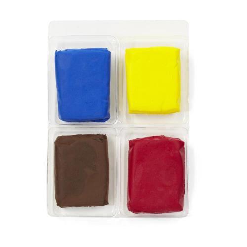 Набор полимерной глины EKSuccess Tools Основной, 4 цвета, 14 гEKS-43-00008Набор EKSuccess Tools Основной состоит из пакетиков с полимерной глиной 4 основных цветов: синий, коричневый, желтый, красный. Полимерная глина предназначена для изготовления цветов, фигурок, рамок, бордюров и других изделий, которые можно использовать в любых видах творчества. Глина не требует запекания, сохнет 24 часа. После сушки изделие можно красить, либо покрыть герметиком, лаком, закрепителем. Глина абсолютно не токсична. Предназначено для детей старше 3 лет. Вес одного пакетика: 14 г.