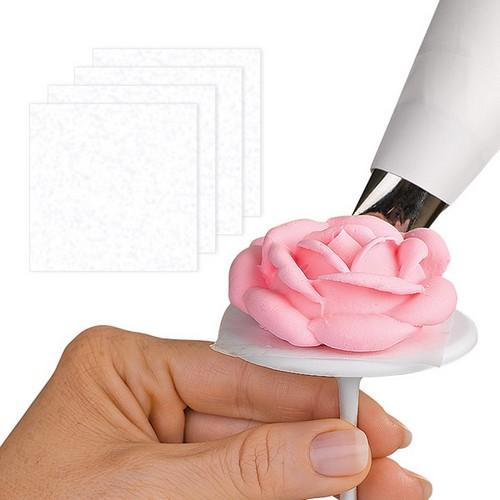 Квадраты пергаментной бумаги Wilton, 4,5 х 4,5 см, 50 штWLT-414-920Вам больше не нужно нарезать пергамент! В данном наборе уже есть готовые квадраты, которые можно использовать для накладывания на кондитерский гвоздь, делать из них кондитерский мешок для быстрого отсаживания точек-бусинок или для перевода рисунка переводным гелем. Экономьте ваше время и трудозатраты, имейте всегда свободное пространство для своего творчества. Размер квадрата: 4,5 см х 4,5 см.