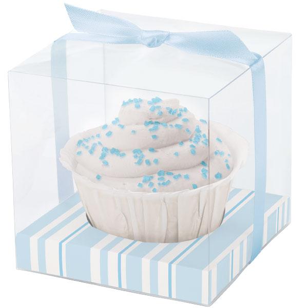 """Набор коробочек Wilton """"Голубые полоски"""", с ленточками, с ярлычками, 20 шт"""