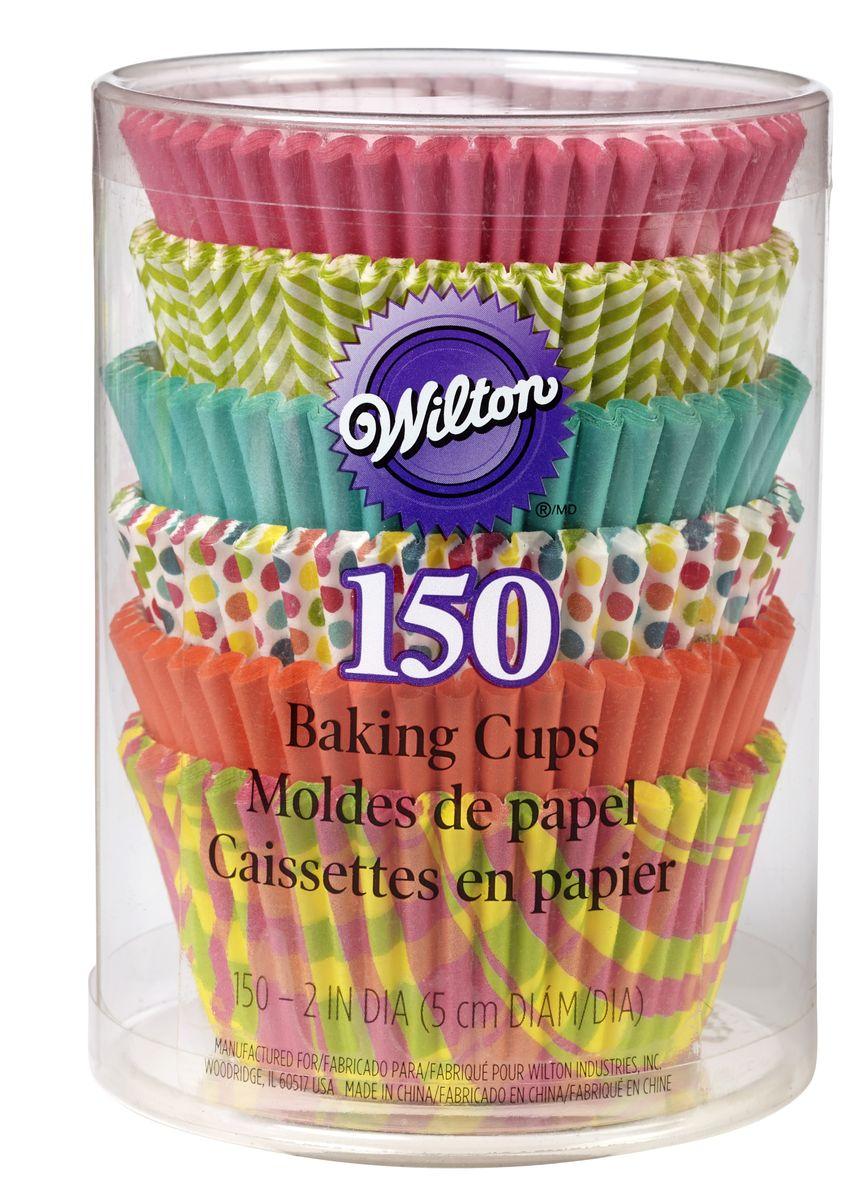 Набор бумажных форм для кексов Wilton Весна, диаметр 7 см, 150 штWLT-415-6079Набор Wilton Весна состоит из 150 бумажных форм для кексов 6 разных дизайнов. Они предназначены для выпечки и упаковки кондитерских изделий, также могут использоваться для сервировки орешков, конфет и др. Для одноразового применения. Гофрированные бумажные формы идеальны для выпечки кексов, булочек и пирожных. Высота стенки: 3 см. Диаметр (по верхнему краю): 7 см. Диаметр дна: 5 см.