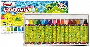 Мелки восковые Pentel Crayons, 16 цветовGTC-16Восковые мелки Pentel Crayons созданы специально для самых маленьких художников. Мелки обеспечивают удивительно мягкое письмо, не ломаются. В их изготовлении использовались абсолютно безопасные натуральные материалы. Восковые мелки Pentel Crayons помогают детям развивать мелкую моторику рук, координацию движений, воображение и творческое мышление, стимулируют цветовое восприятие, а также способствуют самовыражению. В наборе - 16 мелков. Количество цветов: 16. Длина мелка: 7 см.
