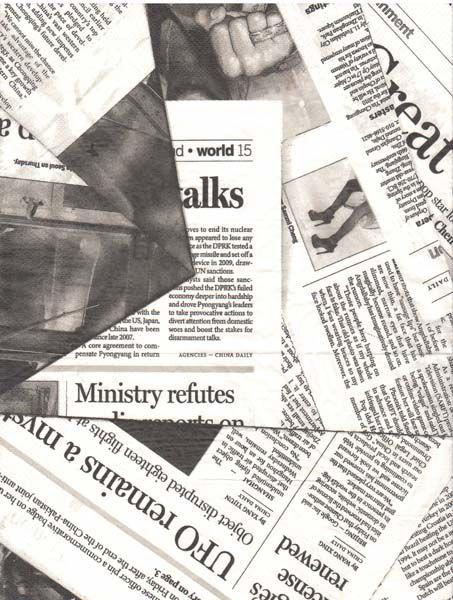 Рисовая бумага для декупажа Таймс, 21 см х 29,7 смna4313Рисовая бумага Таймс имеет в составе прожилки риса, которые очень красиво смотрятся на декорируемом изделии, придают ему неповторимую фактуру и создают эффект нанесенного кистью рисунка. Рисовая бумага легко повторяет форму предметов. Изделие оформлено изображением газет и подходит для декора в технике декупаж на стекле, дереве, пластике, металле и любых других поверхностях. Не требует замачивания. Приклеивается путем нанесения клея поверх бумаги по направлению от центра к краям. Мотивы рисунка можно вырезать ножницами либо вырывать руками. Так же используется в технике скрапбукинг для декора страниц и обложек альбомов. Бумагу можно пристрачивать на швейной машине. Декупаж - техника декорирования различных предметов, основанная на присоединении рисунка, картины или орнамента (обычного вырезанного) к предмету, и, далее, покрытии полученной композиции лаком ради эффектности, сохранности и долговечности. Плотность: 20 г/м. Формат: А4.