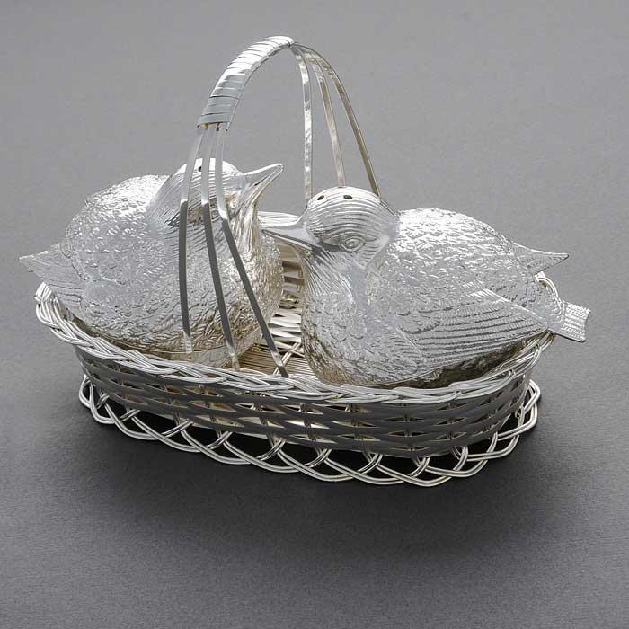 Набор для соли и перца Marquis Птицы в гнезде, 3 предмета