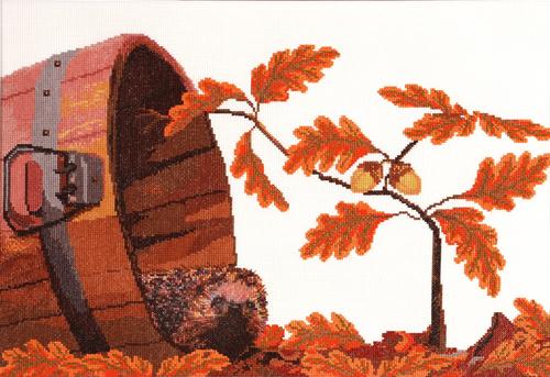 Набор для вышивания крестом Hobby & Pro Осенний гость, 48 х 30 см 696486252Набор для вышивания Hobby & Pro Осенний гость поможет вам создать свой личный шедевр - красивую картину, вышитую нитками мулине в технике полный крест. Работа, выполненная своими руками, станет отличным подарком для друзей и близких! Набор содержит: - канва Aida 14 без рисунка (5,5 клеток в см) - 60 см х 45 см; - нитки мулине Bestex (19 цветов); - игла; - цветная схема; - инструкция на русском языке.