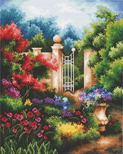 Набор для вышивания крестом Hobby & Pro Таинственный сад, 29 x 36 см S-0597709578Набор для вышивания Hobby & Pro Таинственный сад поможет вам создать свой личный шедевр - красивую картину, вышитую нитками мулине в технике счетный крест. Работа, выполненная своими руками, станет отличным подарком для друзей и близких! Набор содержит: - белая канва Aida 14 (5,5 клеток в см); - нитки мулине Bestex (65 цветов); - игла; - цветная схема; - инструкция на русском языке.