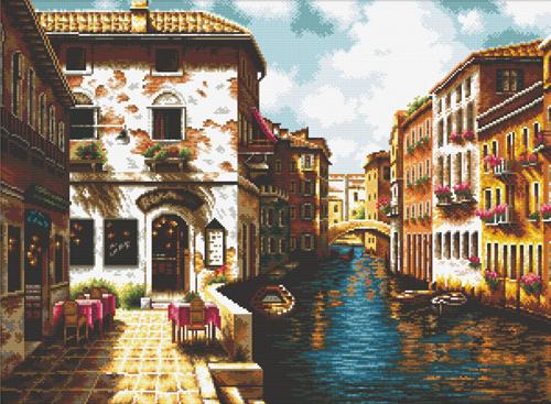 Набор для вышивания крестом Hobby & Pro Венеция, 55 x 41 см S-0737709592Набор для вышивания Hobby & Pro Венеция поможет вам создать свой личный шедевр - красивую картину, вышитую нитками мулине в технике счетный крест. Работа, выполненная своими руками, станет отличным подарком для друзей и близких! Набор содержит: - белая канва Aida 14 (5,5 клеток в см); - нитки мулине Bestex (40 цветов); - игла; - цветная схема; - инструкция на русском языке.