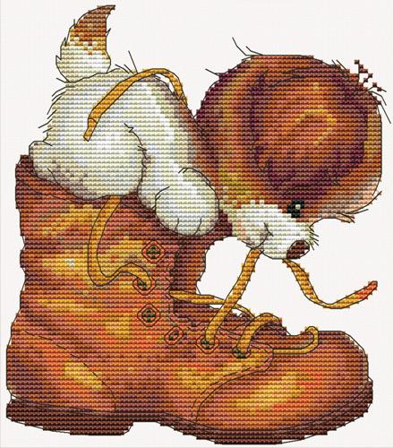 Набор для вышивания крестом Hobby & Pro Проказник, 16 x 18 см S-0827709601Набор для вышивания Hobby & Pro Проказник поможет вам создать свой личный шедевр - красивую картину, вышитую нитками мулине в технике счетный крест. Работа, выполненная своими руками, станет отличным подарком для друзей и близких! Набор содержит: - белая канва Aida 14 (5,5 клеток в см); - нитки мулине Bestex (29 цветов); - игла; - цветная схема; - инструкция на русском языке.
