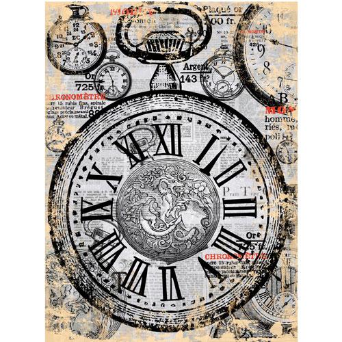 Рисовая бумага для декупажа Craft Premier Карманные часы, 28 см х 38 смCP00768Рисовая бумага для декупажа Craft Premier Карманные часы - мягкая бумага с выраженной волокнистой структурой, которая легко повторяет форму любых предметов. При работе с этой бумагой вам не потребуется никакой дополнительной подготовки перед началом работы. Вы просто вырезаете или вырываете нужный фрагмент и хорошо проклеиваете бумагу на поверхности изделия. Рисовая бумага для декупажа идеально подходит для стекла. В отличие от салфеток, при наклеивании декупажная бумага практически не рвется и совсем не растягивается. Клеить ее можно как на светлую, так и на темную поверхность. Для новичков в декупаже это очень удобно и гарантируется хороший результат. Поверхность, на которую будет клеиться декупажная бумага, подготавливают точно так же, как и для наклеивания салфеток, распечаток и т.д. Мотив вырезаем точно по контуру и замачиваем в емкости с водой, обычно не больше чем на одну минуту, чтобы он полностью впитал воду. Вынимаем и промакиваем бумажным или...