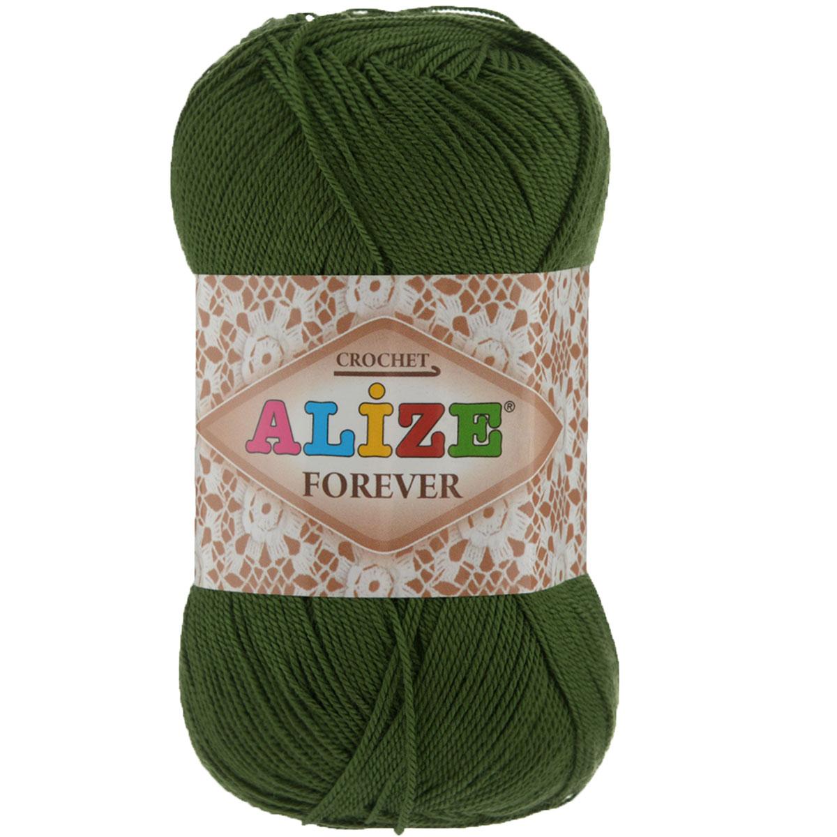Пряжа для вязания Alize Forever, цвет: темно-зеленый (35), 300 м, 50 г, 5 шт367022_35Alize Forever - это тщательно обработанная акриловая пряжа, которая приобретает вид мерсеризованной нити. Классическая пряжа, прочная, мягкая и шелковистая. Большое разнообразие цветов и оттенков от спокойных до ярких позволять подобрать пряжу для вязания на любой вкус. Предназначена для вязания летних и весенних вещей и прекрасно подойдет как для спиц, так и для крючка. Изделия получаются очень красивыми и нарядными внешне и при этом комфортными в носке. Рекомендованные спицы № 2-3,5, крючок № 0,75-1,5. Состав: 100% акрил.