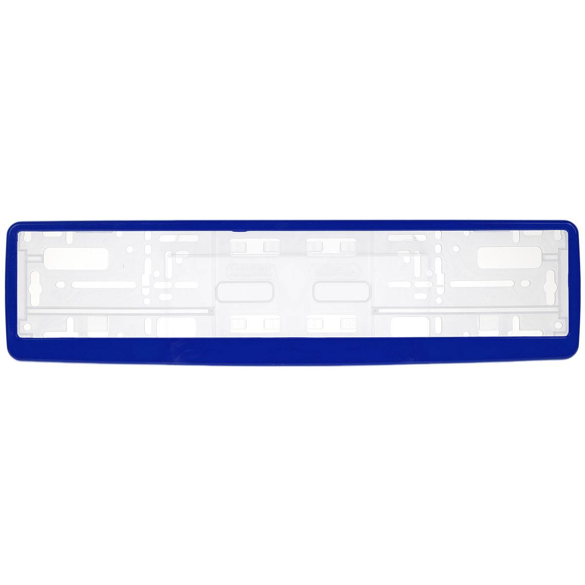 Рамка под номер Концерн Знак, цвет: синийЗ0000012307Рамка Концерн Знак не только закрепит регистрационный знак на вашем автомобиле, но и красиво его оформит. Основание рамки выполнено из полипропилена, материал лицевой панели - пластик. Она предназначена для крепления регистрационного знака российского и европейского образца. Устанавливается на все типы автомобилей. Крепления в комплект не входят. Стильный дизайн идеально впишется в экстерьер вашего автомобиля. Размер рамки: 53,5 см х 13,5 см. Размер регистрационного знака: 52,5 см х 11,5 см.