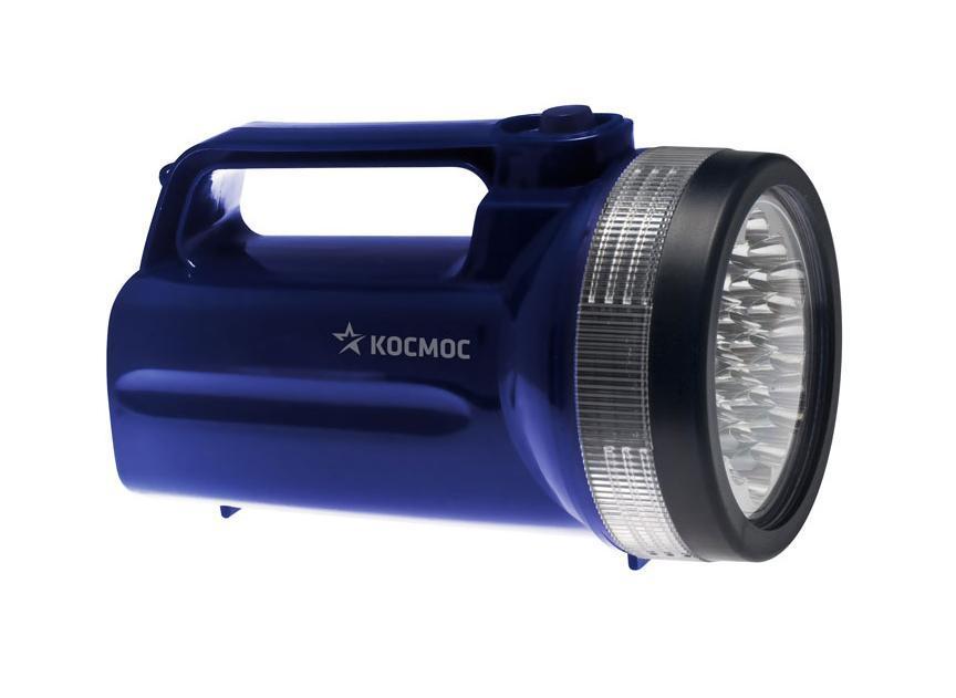 Фонарь-прожектор Космос светодиодный. КОС860LEDKOC860LEDФонарь-прожектор светодиодный Космос - это инновационный продукт, сочетающий в себе последние достижения электротехники и эргономики. Корпус фонаря выполнен из легкого, прочного и экологичного пластика. Соединение частей корпуса снабжено резиновым уплотнительным кольцом, предотвращающим попадание влаги внутрь фонаря. Фонарь снабжен эластичным ремешком. Оснащен 19 яркими и экономичными LED элементами. Характеристики: Материал: пластик, стекло, металл. Размер фонаря: 10,5 см х 19,5 см х 10,5 см. Тип лампочки: LED. Количество лампочек: 19 шт. Время непрерывной работы: до 50 часов. Производитель: Россия. Изготовитель: Китай. Артикул: КОС860LED. Работает от 4 батареек R20 (не входят в комплект). Космос - российский бренд электротоваров, созданный, чтобы обеспечить отечественного покупателя качественной энергосберегающей и энергоэффективной продукцией в категориях: Лампы, светильники Сезонные...