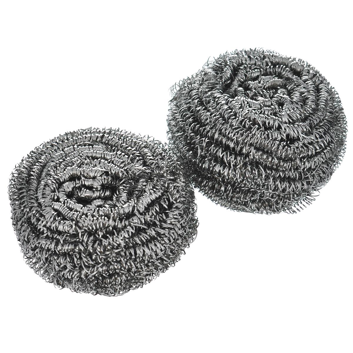 Губка для мытья посуды Vileda Inox, металлическая, 2 шт32110739Спиралевидные губки Vileda Inox изготовлены из 100% стали и предназначены для очистки металлической посуды и рабочих поверхностей от стойких загрязнений. Не рекомендуется использовать на деликатных поверхностях. Изделия не ржавеют, не колют руки, хорошо промываются под струей воды. В наборе - 2 губки. Размер губки: 6 см х 6 см х 4 см. Комплектация: 2 шт.