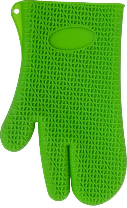 Рукавица для кухни Marmiton, силиконовая, цвет: зеленый16067Рукавица для кухни Marmiton выполнена из цветного силикона, который выдерживает температуру от -40°С до +240°С. Изделие приятное на ощупь, невероятно гибкое и прочное. Рукавица имеет рельефную поверхность, что обеспечивает еще более надежный хват. С помощью такой рукавицы ваши руки будут защищены от ожогов, когда вы будете ставить в печь или доставать из нее выпечку. Размер: 17 см х 28 см.