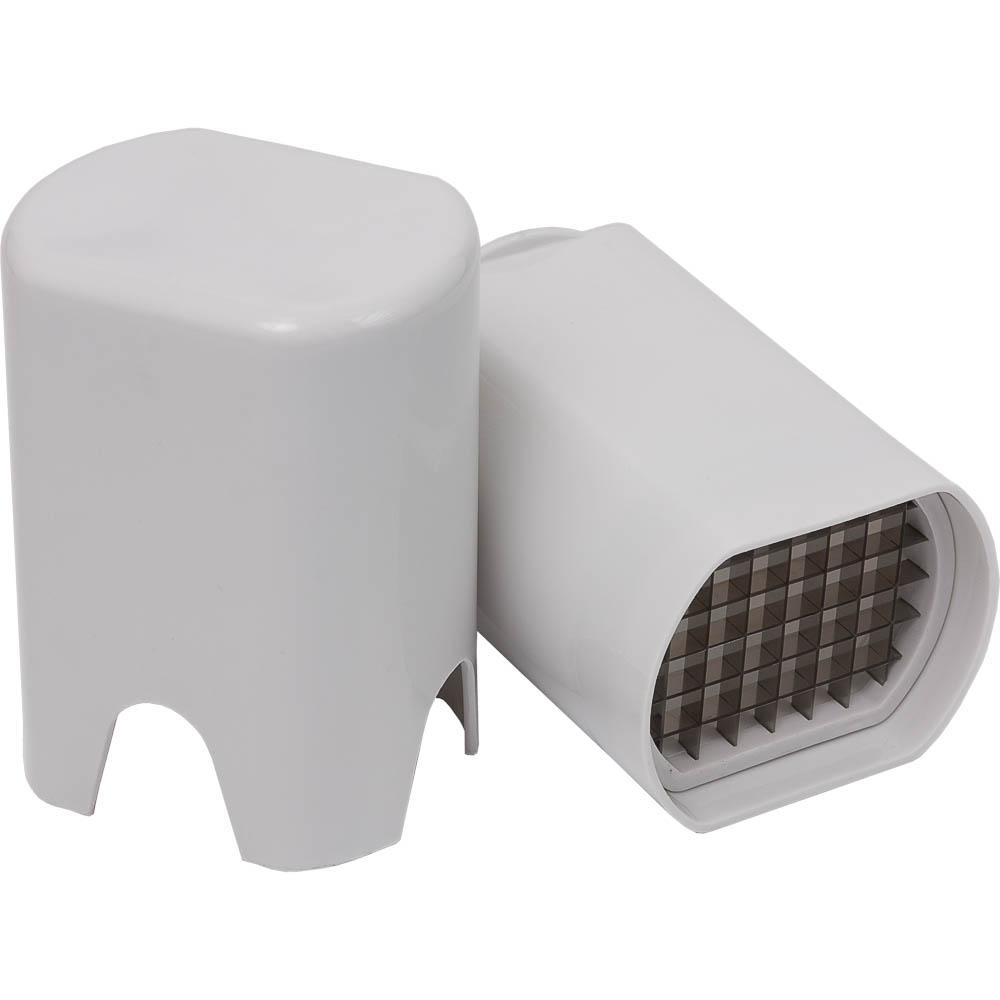 Нож для картофеля Marmiton, цвет: белый, 8 х 10 х 14 см17017Нож Marmiton изготовлен из высококачественного пластика (полипропилена) и стали. При приготовлении картофеля фри очень важно, чтобы весь картофель был нарезан ровными дольками. Нож Marmiton идеально подходит для легкой и быстрой нарезки ломтиков картофеля фри. Нож представляет собой две емкости. В конце одной - режущие лезвия, в конце другой - упор, благодаря которому и происходит процесс нарезки. Картофель зажимается между двумя емкостями и получаются ровные ломтики. Такой нож займет достойное место среди аксессуаров на вашей кухне. Размер получаемого ломтика: 1 см х 1 см. Размер рабочей поверхности: 7,5 см х 5,5 см.