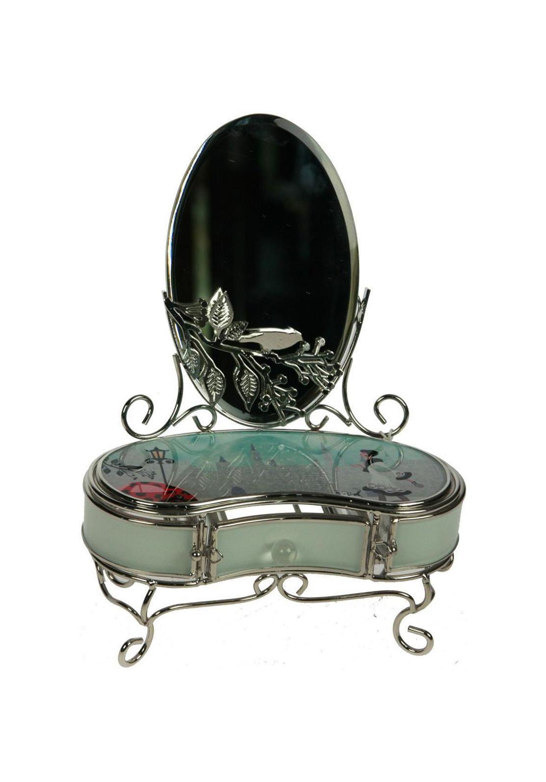 Шкатулка с зеркалом Модница78841Шкатулка Русские подарки Модница 78841 - это превосходный подарок любой женщине. Она выполнена из стекла, металла и акрила. Шкатулка сохранит ваши ювелирные изделия в первозданном виде, а также украсит комнату своим оригинальным дизайном. Материал: стекло, металл (железо, сплав олова), акрил; цвет: светло-зеленый