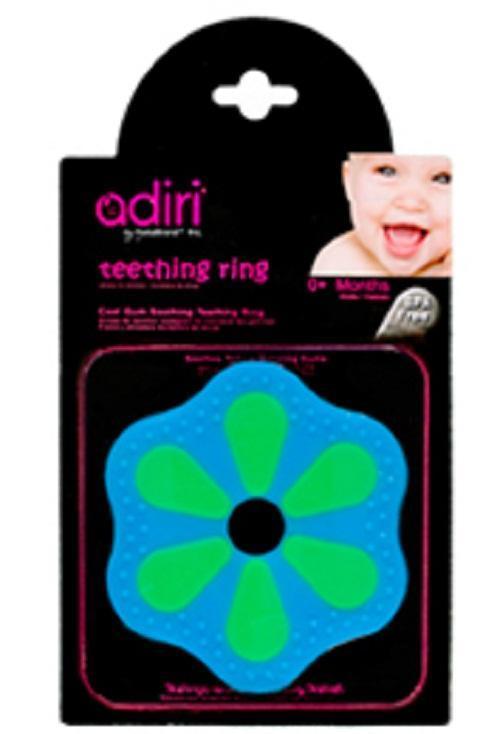 Прорезыватель для зубов Adiri Petal Teething Ring, green-cyan