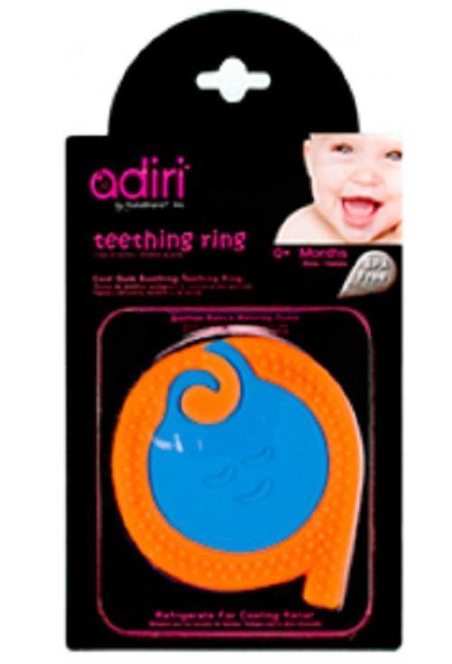 Прорезыватель для зубов Adiri A Teething Rings, cyan-orange881248001819Мягкое кольцо обеспечивает малышу максимальный комфорт при прорезывании зубов; создает эффект расслабляющего массажа; охватывает все области десен; выделение слюны помогает предотвратить ранний кариес; не содержит бисфенол А (BPA free);