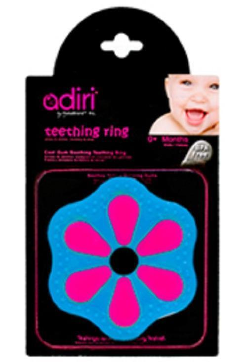 Прорезыватель для зубов Adiri Petal Teething Ring, magenta-cyan