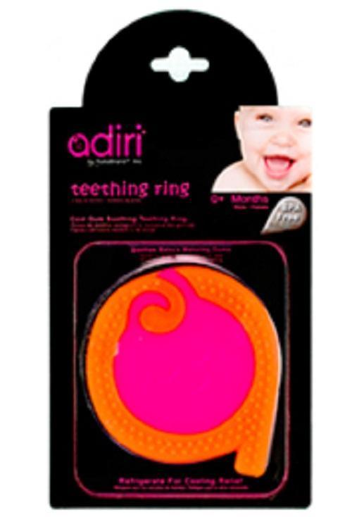 Прорезыватель для зубов Adiri A Teething Rings, magenta-orange