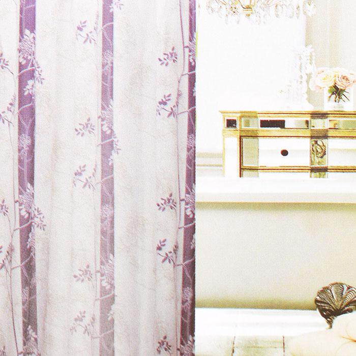 Штора для ванной Fresh Code Фиолетовые цветы, цвет: белый, фиолетовый, 180 х 180 см56954Штора для душа Fresh Code Фиолетовые цветы из 100% плотного полиэстера с водоотталкивающей поверхностью идеально защищает ванную комнату от брызг. Прочные отверстия для колец позволяют надежно закрепить штору на штанге, а гибкий металлический утяжелитель в нижней кромке поддерживает ее в расправленной форме. Штору можно легко почистить мягкой губкой с мылом или постирать ее с мягким моющим средством в деликатном режиме.