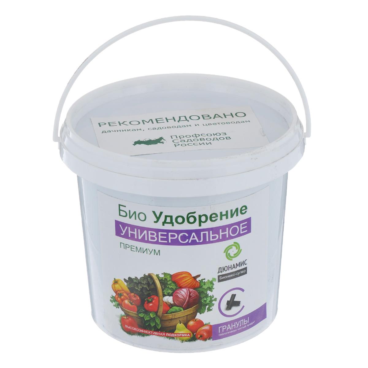 Био-удобрение Дюнамис Универсальное Премиум, в гранулах, 1 л0703-гУниверсальное био-удобрение Дюнамис - это гранулированное удобрение с веществами в хелатной форме. Обладает лёгким запахом. Способствует увеличению урожайности до 53% и улучшению вкусовых и качественных показателей плодов. Благодаря такому удобрению, повышается сопротивляемость к заболеваниям, также это эффективная помощь при дефиците питания и влаги. Универсальное био-удобрение Дюнамис обеспечивает обильное и длительное цветение, повышение силы растений. Варианты применения: - в лунку при посадке; - сухие корневые подкормки; - жидкие корневые подкормки. Состав: ферментированный навоз КРС, помет, биокатализатор. Объем: 1 л. Товар сертифицирован.