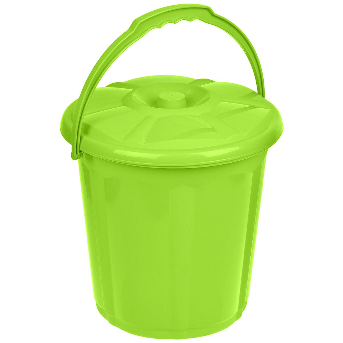 Ведро для мусора Dunya Plastik Стиль, с крышкой, цвет: зеленый, 15 л9104Ведро Dunya Plastik Стиль изготовлено из прочного пластика. Ведро оснащено закрывающейся крышкой и удобной ручкой. Такое ведро прекрасно подойдет для различных хозяйственных нужд: для уборки или хранения мусора Диаметр ведра (по верхнему краю): 30 см. Высота (без учета крышки): 30,5 см.