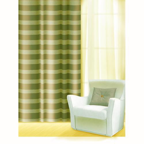 Штора Home Queen Нуар, на петлях, цвет: зеленый, высота 275 см65001Изящная штора Home Queen Нуар выполнена из полиэстера. Полупрозрачная ткань, приятная цветовая гамма, принт в полоску привлекут к себе внимание и органично впишутся в интерьер помещения. Такая штора идеально подходит для солнечных комнат. Мягко рассеивая прямые лучи, она хорошо пропускает дневной свет и защищает от посторонних глаз. Отличное решение для многослойного оформления окон. Эта штора будет долгое время радовать вас и вашу семью! Штора крепится на карниз при помощи петель.