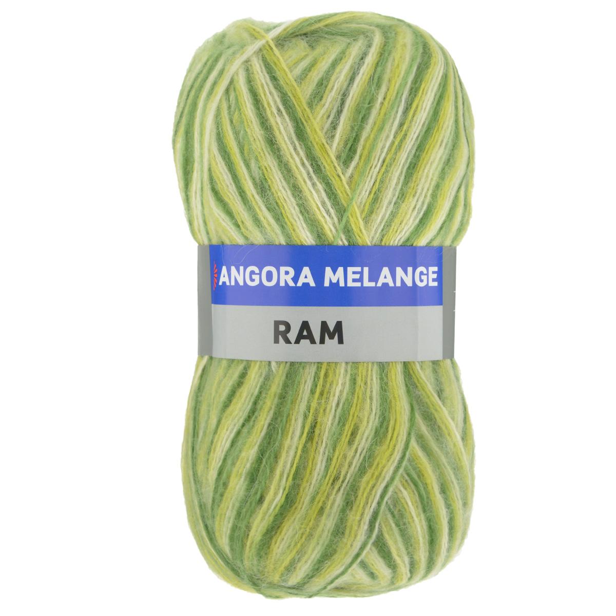 Пряжа для вязания YarnArt Angora Ram. Melange, цвет: зеленый, салатовый (703), 500 м, 100 г, 5 шт486194_703Пряжа для вязания YarnArt Angora Ram. Melange состоит из 40% мохера и 60% акрила. Такая пряжа подойдет для вязки шарфов, шапок, свитеров и другой теплой одежды. Пряжа приятная на ощупь, изделия из нее получаются мягкие, теплые и приятные к телу. Стирка при температуре не более 30°С. Рекомендованные для вязания спицы 4 мм. Состав: 40% мохер, 60% акрил.