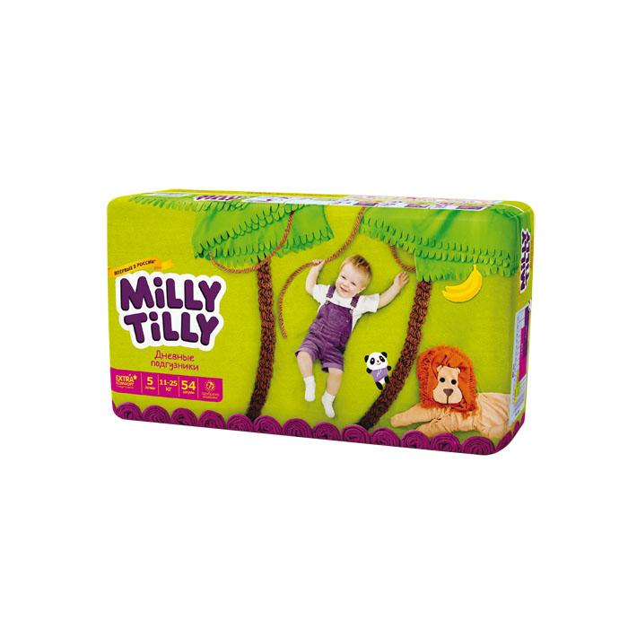 Milly Tilly Подгузники дневные Junior, 11-25 кг, 54 шт0166Нежный материал дневного подгузника Milly Tilly в виде сот прилегает к коже и дарит малышу невероятный комфорт. Данная структура верхнего слоя в виде сот позволяет свободно циркулировать воздуху внутри подгузника. Эластичные поясочки надежно фиксируют его, при этом не стесняют движений малыша. Нежные оборочки сделаны из трех мягких резиночек, которые не натирают ножки. Застежки Magic Fix - настолько крепкие, что их можно пристёгивать и отстёгивать много раз для лучшей фиксации. Система Liquid Security позволяет равномерно распределять влагу, без комочков. Кожа малыша надолго остаётся сухой и нежной. Цифры на пояске помогут симметрично застегнуть подгузник. На каждом подгузнике смешной герой развеселит малыша и поднимет настроение маме. Проверено дерматологами.