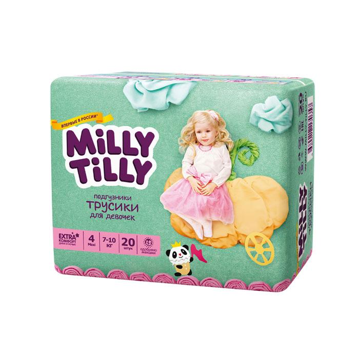 Подгузники-трусики для девочек Milly Tilly 4, 7-10 кг, 20 шт0357Отличие трусиков-подгузников для мальчиков и девочек: исходя из анатомических особенностей усилены разные зоны впитываемости, использован разный эмоциональный дизайн. Мягкий дышащий материал позволяет свободно циркулировать воздуху внутри подгузника. Комфорт в движении - супермягкий широкий поясок из многочисленных эластичных резиночек надежно фиксирует трусики и при этом не стесняют движений малыша. Комфортная защита - нежные оборочки настолько мягкие, что не натирают ножки даже у крепышей. Сухость без протеканий - высокие барьерчики надежно защищают от протекания, когда малыш спит или бодрствует. Усиленная защиат - супервпитывающий внутренний слой быстро превращает жидкость в гель без образования комочков. Кожа малыша надолго остается сухой и нежной. Комфорт в удовольствие - на каждом подгузнике-трусиках смешной герой развеселит малыша и поднимет настроение маме. Легко снимать - трусики удобно одевать через ножки и легко снимать, раскрепив...
