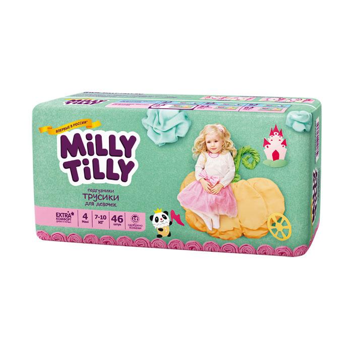 Подгузники-трусики для девочек Milly Tilly 4, 7-10 кг, 46 шт0364Отличие трусиков-подгузников для мальчиков и девочек: исходя из анатомических особенностей усилены разные зоны впитываемости, использован разный эмоциональный дизайн. Мягкий дышащий материал позволяет свободно циркулировать воздуху внутри подгузника. Комфорт в движении - супермягкий широкий поясок из многочисленных эластичных резиночек надежно фиксирует трусики и при этом не стесняют движений малыша. Комфортная защита - нежные оборочки настолько мягкие, что не натирают ножки даже у крепышей. Сухость без протеканий - высокие барьерчики надежно защищают от протекания, когда малыш спит или бодрствует. Усиленная защиат - супервпитывающий внутренний слой быстро превращает жидкость в гель без образования комочков. Кожа малыша надолго остается сухой и нежной. Комфорт в удовольствие - на каждом подгузнике-трусиках смешной герой развеселит малыша и поднимет настроение маме. Легко снимать - трусики удобно одевать через ножки и легко снимать, раскрепив...