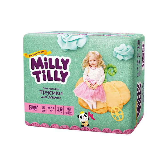 Подгузники-трусики для девочек Milly Tilly 5, 9-14 кг, 19 шт0371Отличие трусиков-подгузников для мальчиков и девочек: исходя из анатомических особенностей усилены разные зоны впитываемости, использован разный эмоциональный дизайн. Мягкий дышащий материал позволяет свободно циркулировать воздуху внутри подгузника. Комфорт в движении - супермягкий широкий поясок из многочисленных эластичных резиночек надежно фиксирует трусики и при этом не стесняют движений малыша. Комфортная защита - нежные оборочки настолько мягкие, что не натирают ножки даже у крепышей. Сухость без протеканий - высокие барьерчики надежно защищают от протекания, когда малыш спит или бодрствует. Усиленная защиат - супервпитывающий внутренний слой быстро превращает жидкость в гель без образования комочков. Кожа малыша надолго остается сухой и нежной. Комфорт в удовольствие - на каждом подгузнике-трусиках смешной герой развеселит малыша и поднимет настроение маме. Легко снимать - трусики удобно одевать через ножки и легко снимать, раскрепив...